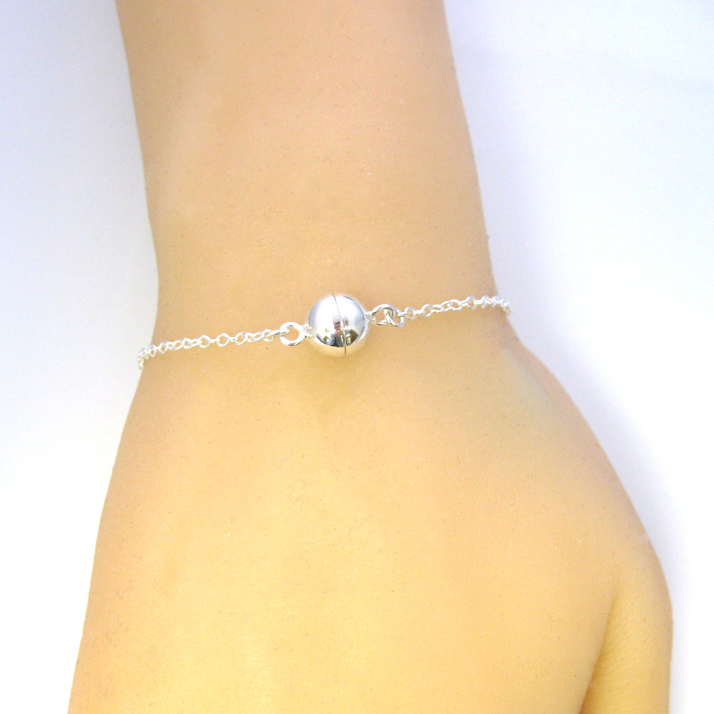 sterling silver bracelet with magnetic clasp