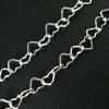 Wholesale Chain, 925 Sterling Silver Heart Chain Link, Bulk Chain by the foot