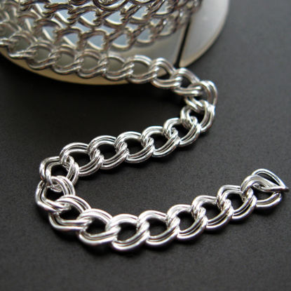 Wholesale Chain, 925 Sterling Silver Double Twisted Oval Chain, Bulk Chain by the foot
