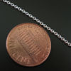 Wholesale Chain, 925 Sterling Silver Solid Flat Cable Oval Chain 1.2 by 1.5mm Bulk Chain by the foot