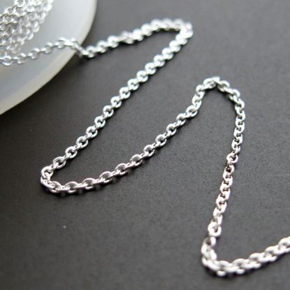 Wholesale Chain, 925 Sterling Silver 1mm Tiny Plain Cable Chain, Bulk Chains by the foot