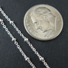 Wholesale Chains, 925 Sterling Silver Beaded Ball Satellite Chain, Bulk Chain by the foot