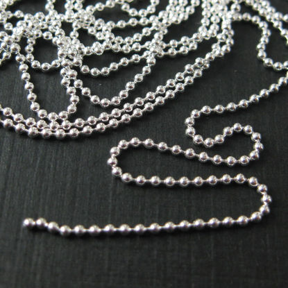 Wholesale Chain, 925 Sterling Silver Tiny Ball Chain 1.2mm Bulk Chain by the foot