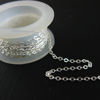 Wholesale Chain, 925 Sterling Silver Flat Cable Oval Chain 2.3mm Bulk Chain by the foot