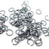 Wholesale Oxidized Sterling Silver 21 Gauge 3.5mm Open Jumprings for Jewelry Making, Wholesale Findings