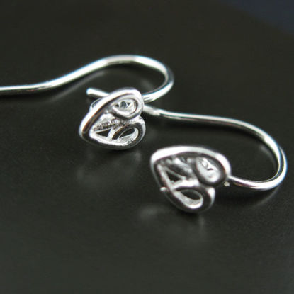 Wholesale Sterling Silver Fancy Heart Earwires for Jewelry Making, Wholesale Earwire and Findings