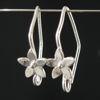 Wholesale Sterling Silver Fancy Flower Earwire Hooks  for Jewelry Making, Wholesale Earwire and Findings