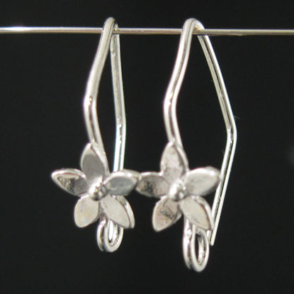 Wholesale Sterling Silver Fancy Flower Earwire Hooks  for Jewelry Making, Wholesale Earwire and Findings
