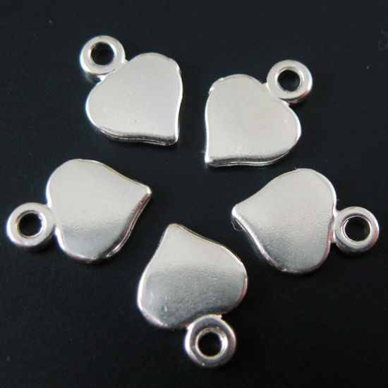 Wholesale Sterling Silver Heart Charm Tag for Jewelry Making, Wholesale Earwire and Findings