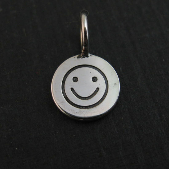 Wholesale Sterling Silver Happy Face Charm, Charms and Pendants for Jewelry Making, Wholesale Findings