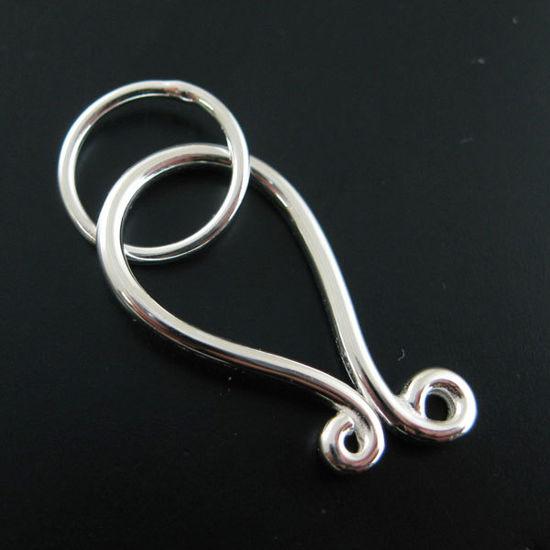 Wholesale Sterling Silver Huge Hook Clasp - 27mm (1 set)