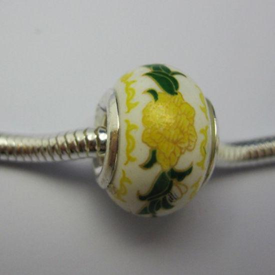 Wholesale Sterling Silver Donut Shape Pandora style bead (1pc)
