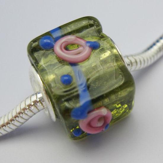 Wholesale Square Shape Pandora Style Bead (1pc)