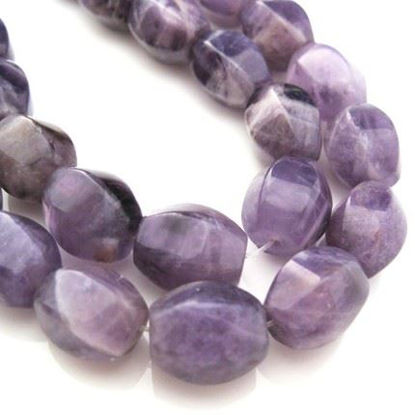 Wholesale Amethyst Beads - 11X13mm Faceted Oval Shape (Sold Per Strand)