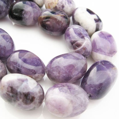 Wholesale Amethyst Beads - 25X18mm Freeform Nuggets - February Birthstone (Sold Per Strand)