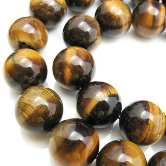 Wholesale Tiger's Eye Beads - 16.5mm Smooth Round (Sold Per Strand)