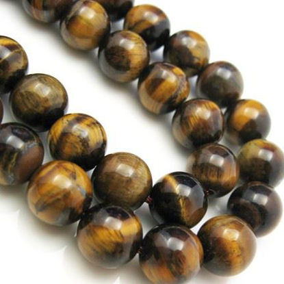 Wholesale Tiger's Eye Beads - 10mm Smooth Round (Sold Per Strand)