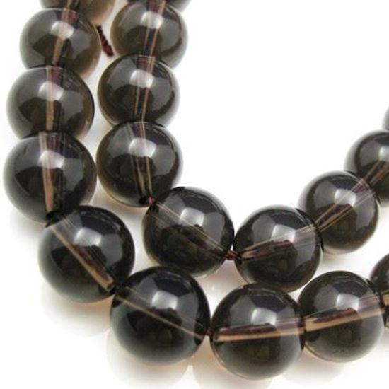 Wholesale Smoky Quartz Beads - 12mm Smooth Round (Sold Per Strand)