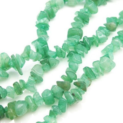 Wholesale Green Aventurine - Natural Stone - Smooth Chips (sold per strand)