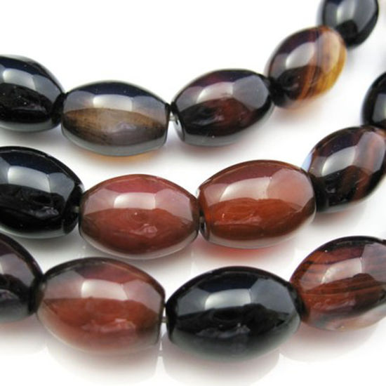 Wholesale Natural Agate Beads - 10X14mm Olive Shape (sold per strand)