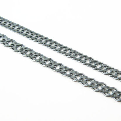 Wholesale Chain, Oxidized Sterling Silver Double Diamond Cut Curb Chain, Bulk Chain by the foot