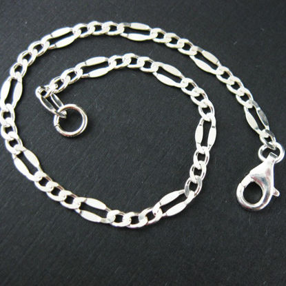 Wholesale Sterling Silver Figaro Chain, Wholesale Bulk Bracelet Chains