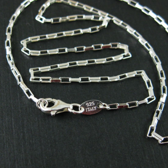 Wholesale Sterling Silver Medium Box Chain, Wholesale Bulk Necklace Chains