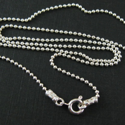 Wholesale Sterling Silver Ball Chain Necklace, Wholesale Bulk Necklace Chains