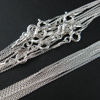 Wholesale Sterling Silver Tiny Plain Cable Oval Necklace Chain, Wholesale Bulk Necklace Chains