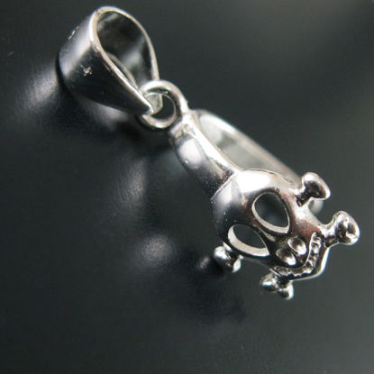 Wholesale Sterling Silver Skull Shape Pinch Bail Connector 18mm