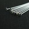 Wholesale Sterling Silver Flat End T Headpins, 22 gauge 1 inch Long, Wholesale Findings