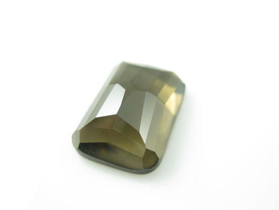 Wholesale Cabochon Faceted Smoky Quartz Rectangle, 13x18mm, Grade A
