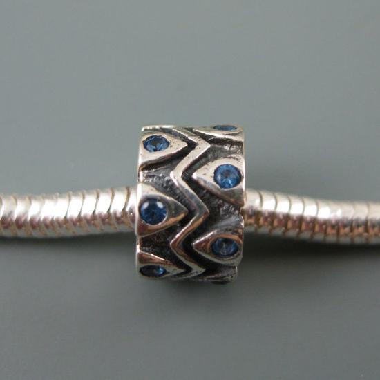 Wholesale European .925 Sterling Silver Charm Beads CZ Zigzag Design
