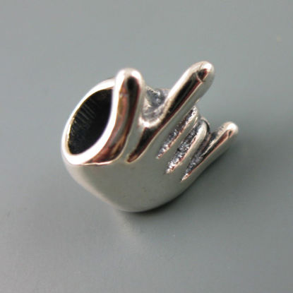 Wholesale European .925 Sterling Silver Rock On Charm Beads