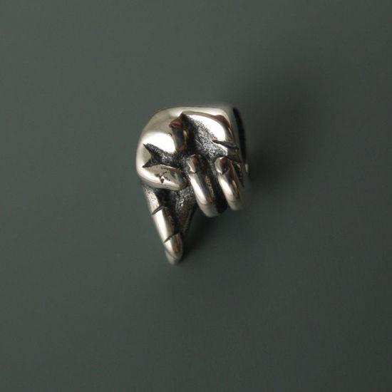 Wholesale European .925 Sterling Silver Fingers Crossed Charm Beads