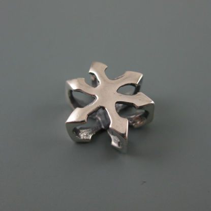 Wholesale European .925 Sterling Silver Snowflake Charm Beads