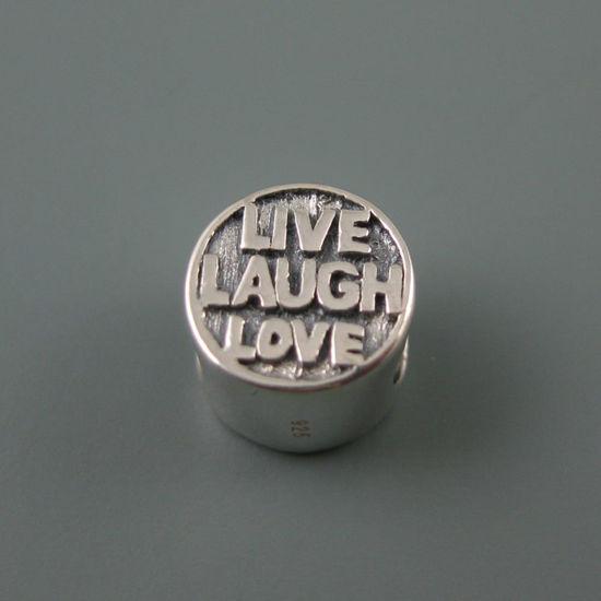Wholesale European .925 Sterling Silver Live, Laugh Love Charm Bead
