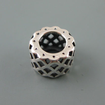 Wholesale European .925 Sterling Silver Criss Cross Charm Bead