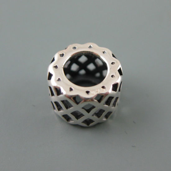 Wholesale European .925 Sterling Silver Criss Cross Charm Bead