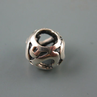 Wholesale European .925 Sterling Silver Heart Charm Bead