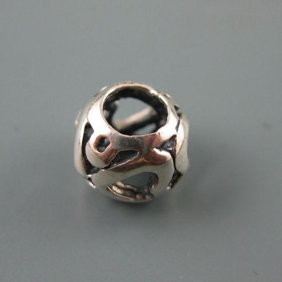 Wholesale European .925 Sterling Silver Heart Charm Bead