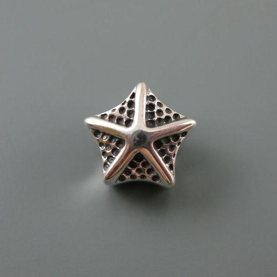 Wholesale European .925 Sterling Silver Starfish Charm Bead