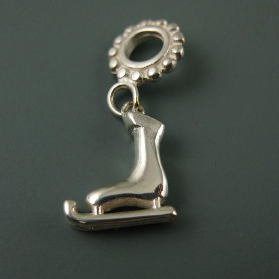 Wholesale European .925 Sterling Figure Skate Charm Bead