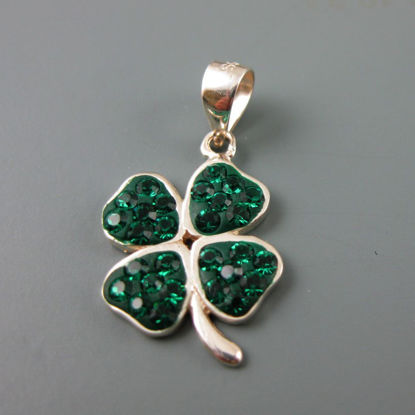 Wholesale 925 Sterling Silver CZ Four Leave Clover Charm Bead