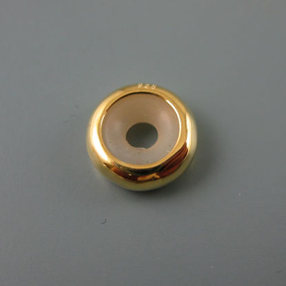 Wholesale European .925 Vermeil Donut Charm Bead