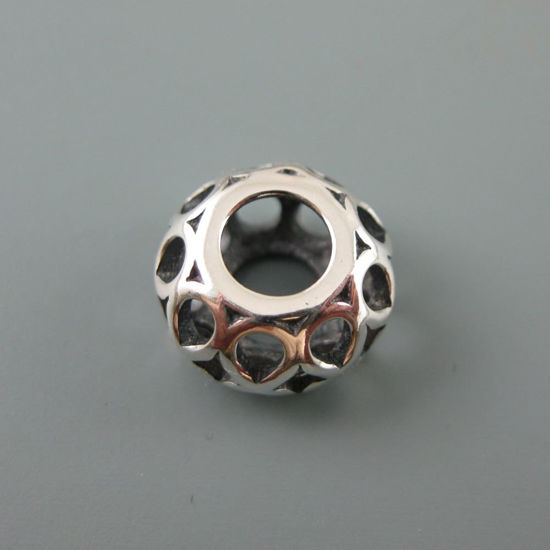 Wholesale European .925 Sterling Silver Infinity Charm Bead