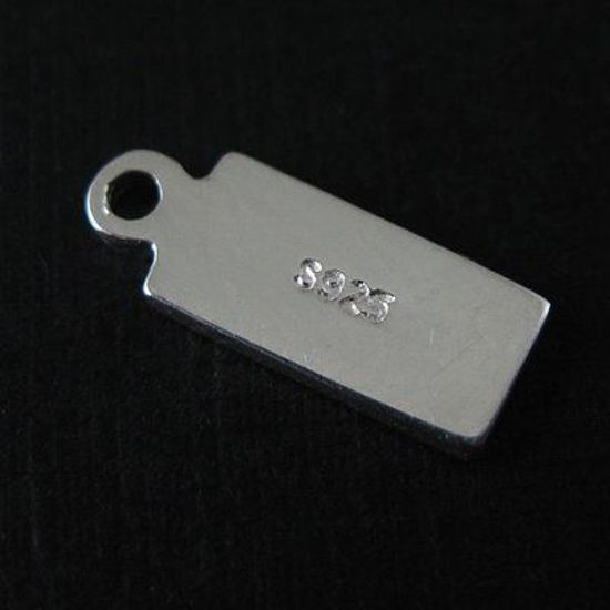 Wholesale Sterling Silver Rectangle Charm Tag for Jewelry Making, Wholesale Earwire and Findings