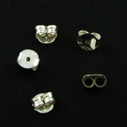 Wholesale Sterling Silver Butterfly Back Earnuts for Jewelry Making, Wholesale Earwire and Findings