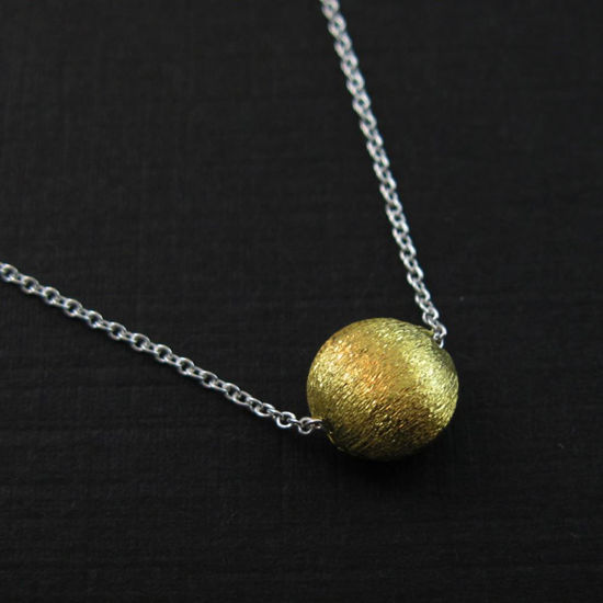 """Wholesale Vermeil-18K Gold Plated 8mm Coin Shaped Textured Charm Pendant Necklace (16-24"""")"""