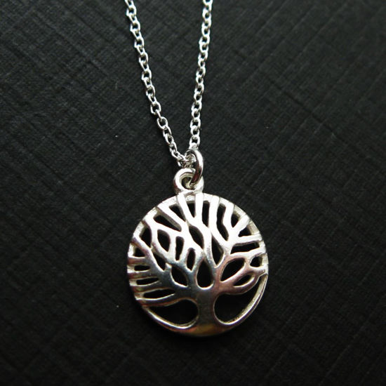 Wholesale 925 Sterling Silver Tree of Life Charm Pendant Necklace (16-24 inch)